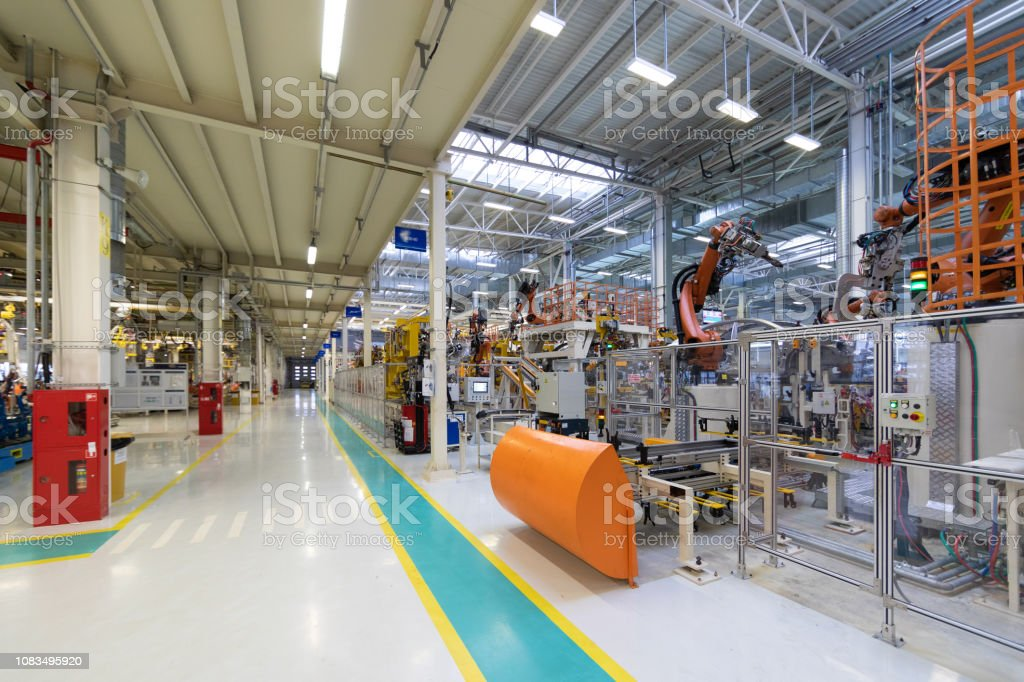 plant of automotive industry. Shop forproduction and Assembly of...