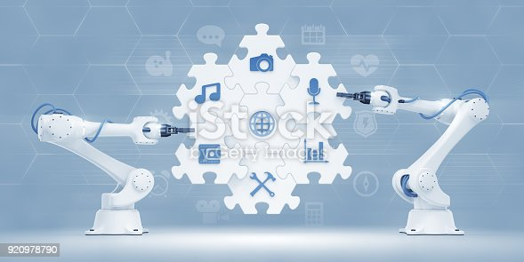 istock Conveyor Of Assembling A Softwares 920978790