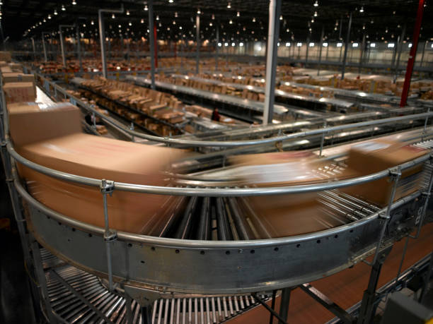 conveyor system - conveyor belt stock pictures, royalty-free photos & images