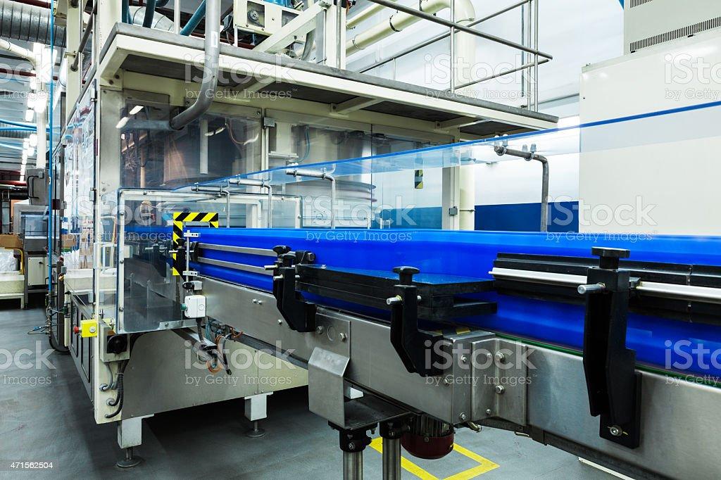 conveyor working stock photo