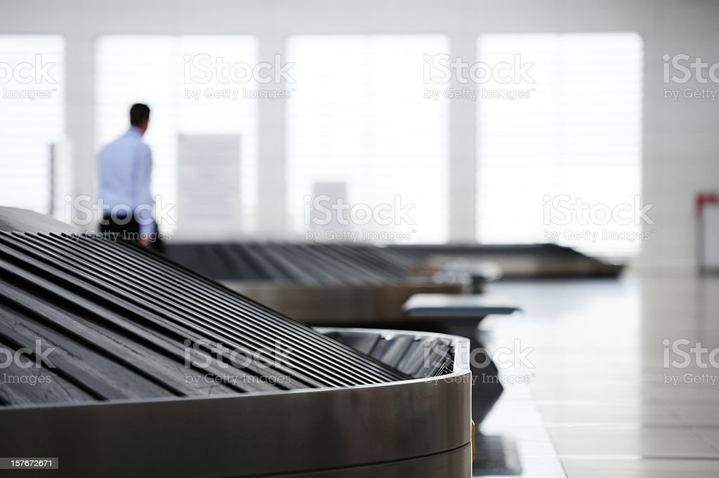 Conveyour belt at airport stock photo