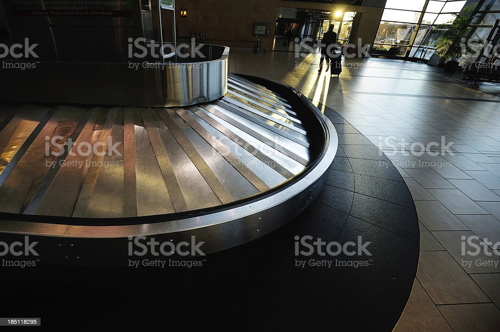 Conveyour belt at airport royalty-free stock photo