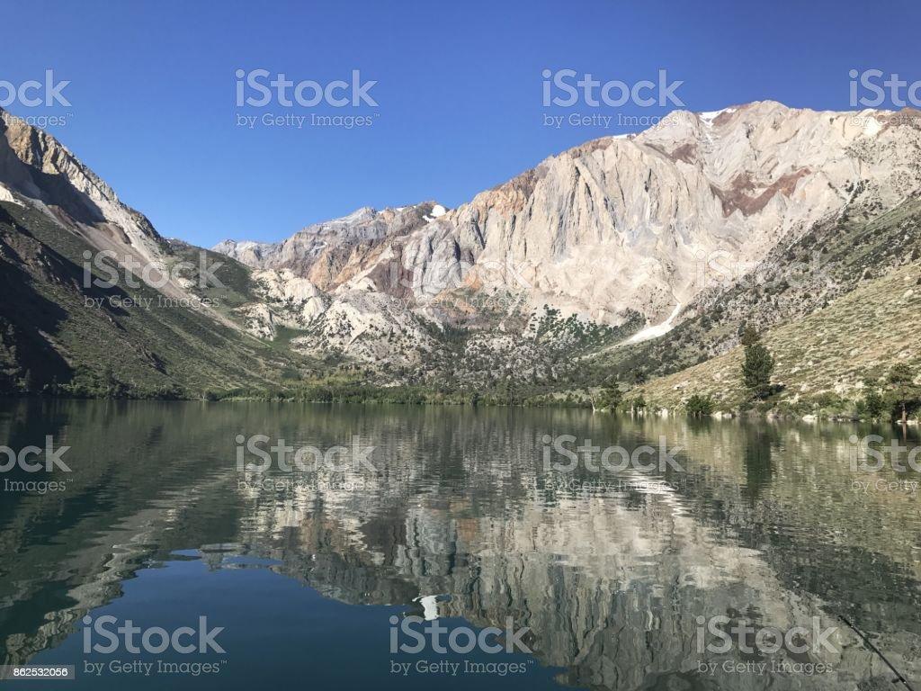 Convict Lake Morning stock photo