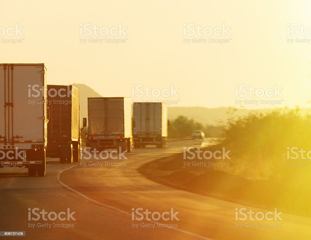 Convoy Sunrise stock photo