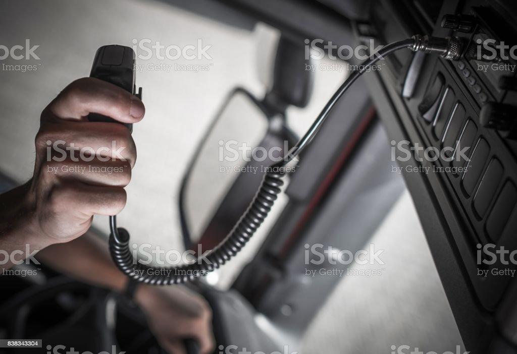 Convoy Truckers Radio Contact stock photo