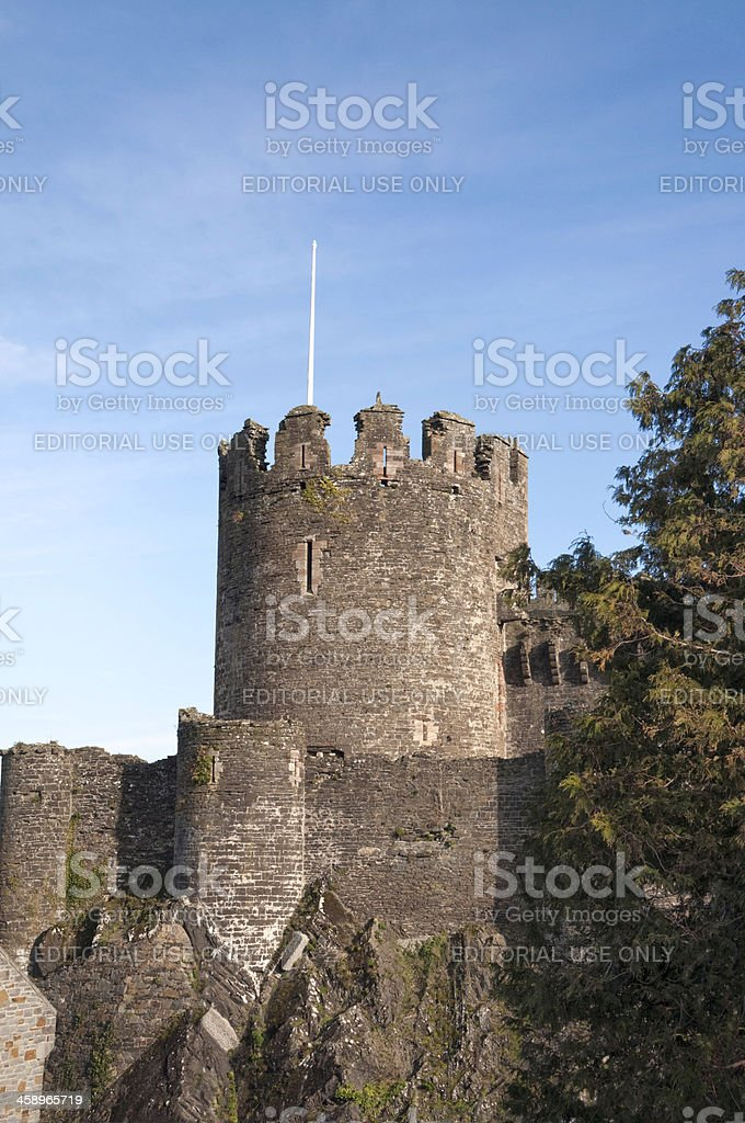 Conwy Castle royalty-free stock photo