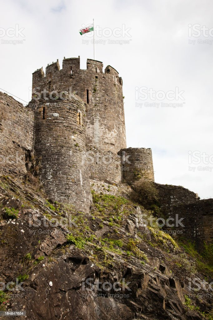Conwy Castle Tower stock photo