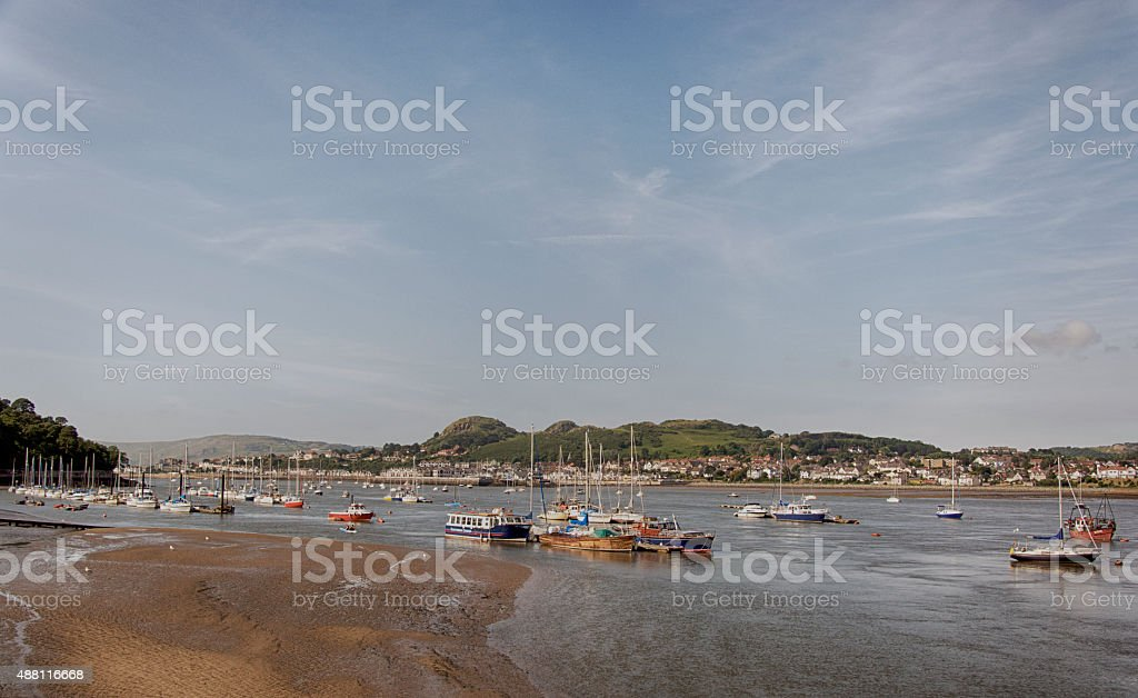 Conwy harbour stock photo