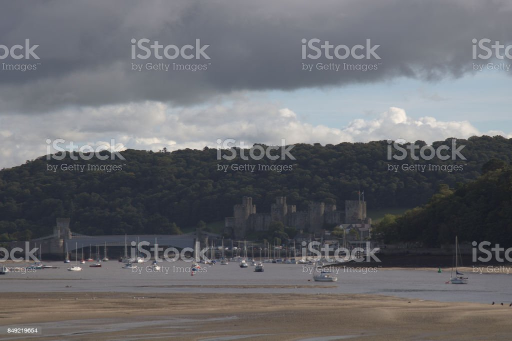 conwy river stock photo