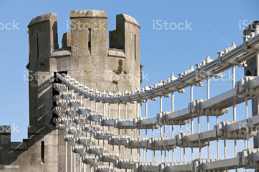 Conwy Suspension Bridge stock photo