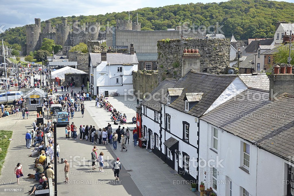 Conwy tourism stock photo
