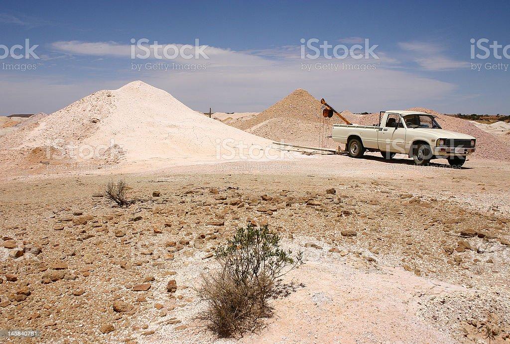 Coober Pedy - Mining stock photo