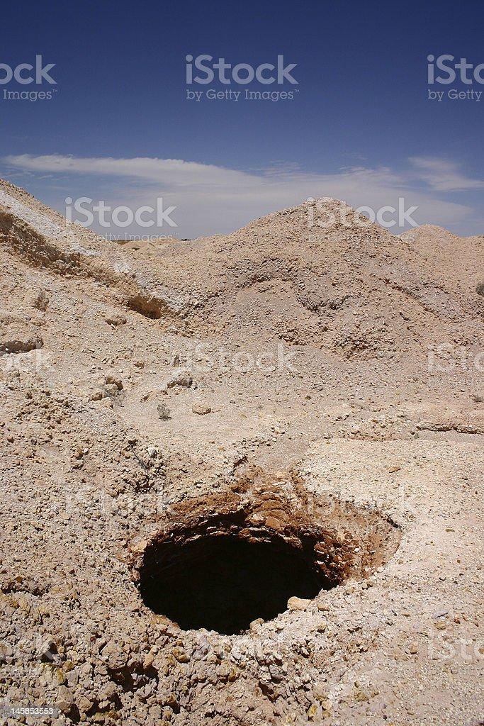 Coober Pedy - opal mining stock photo