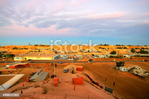 A general overlook of Coober Pedy, South Australia, Australia