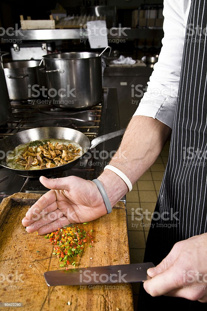 cook at work royalty-free stock photo