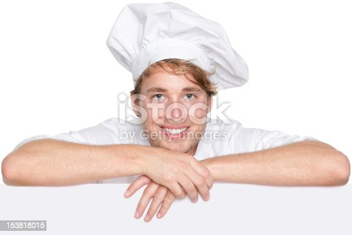 istock Cook, baker or chef sign 153818015