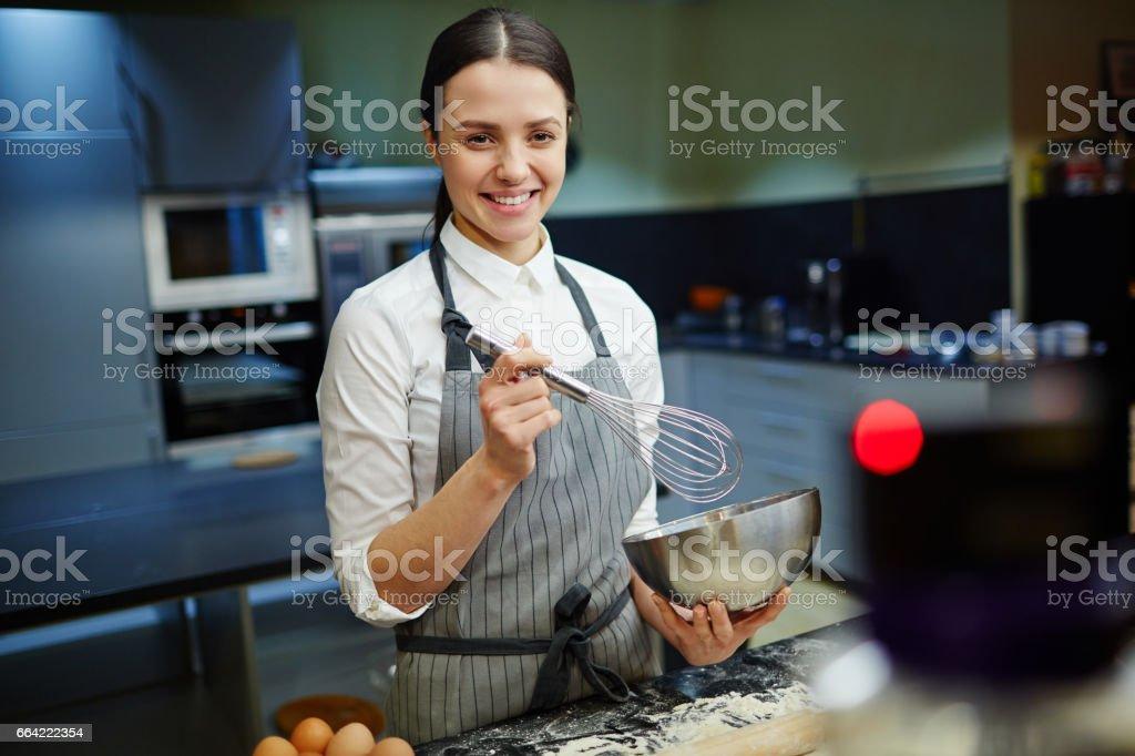 Cook blogger stock photo