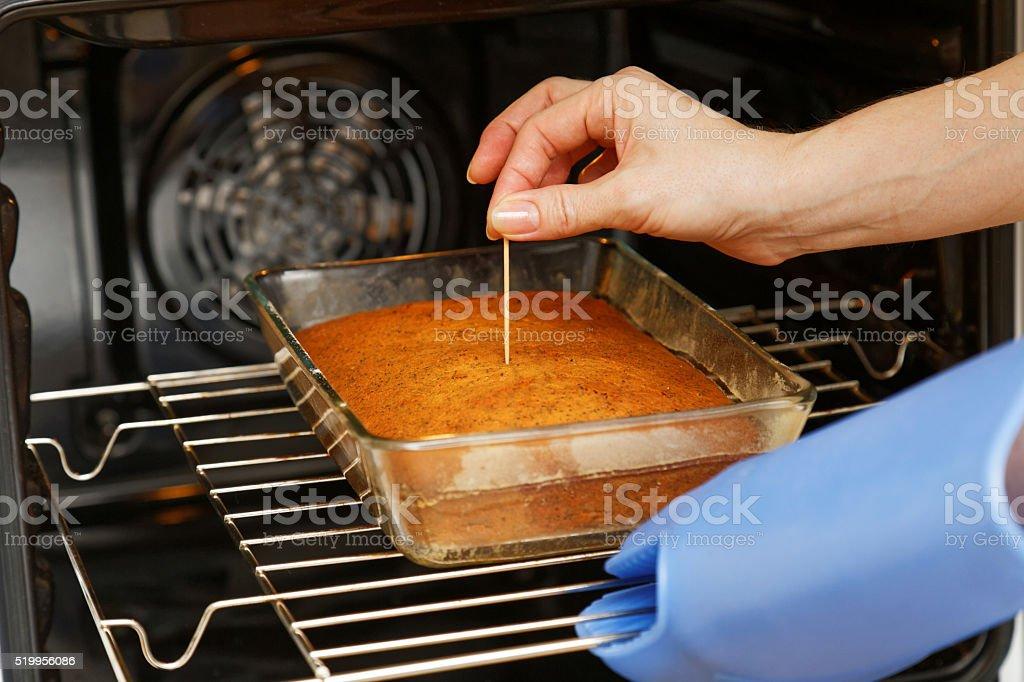 Kochen Schecks Bereitschaft Kuchen – Foto