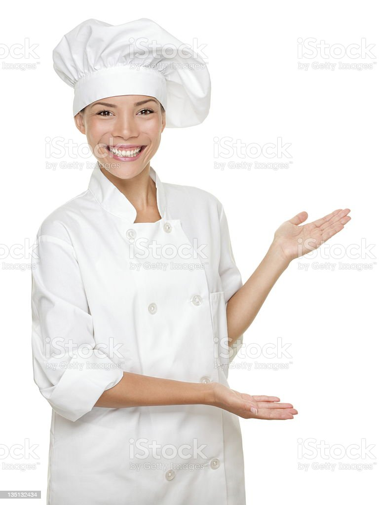 Cook / chef showing stock photo