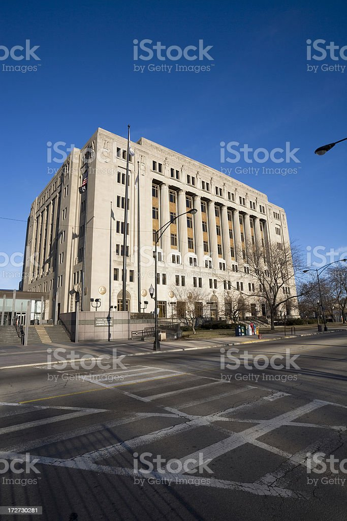 Cook County Court stock photo
