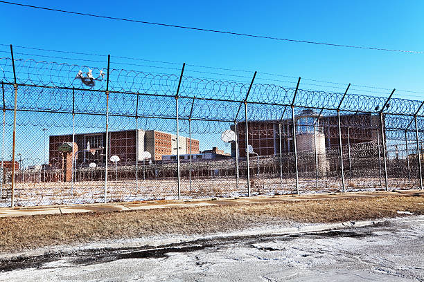 Cook County Jail in Chicago stock photo