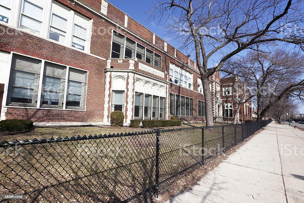 Cook Elementary School in Auburn Gresham, Chicago royalty-free stock photo