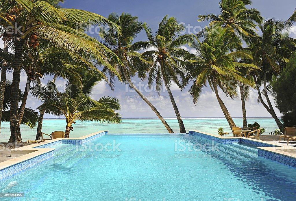 Cook Islands Pool stock photo