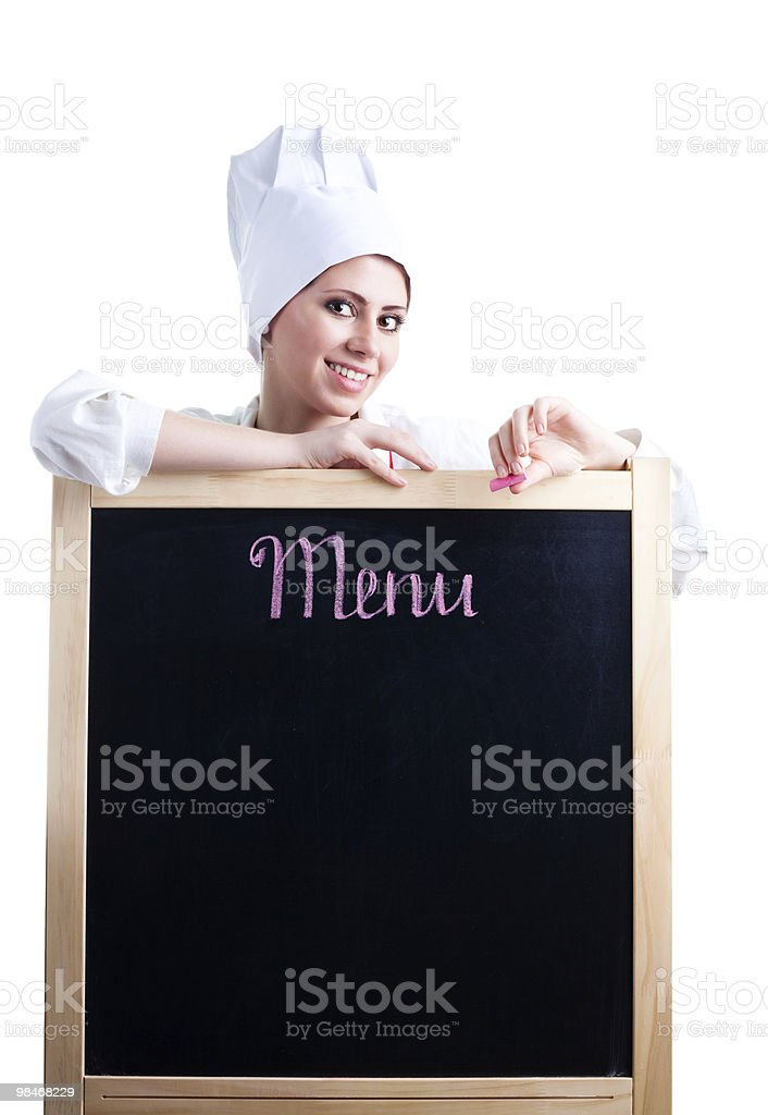 cook show menu royalty-free stock photo
