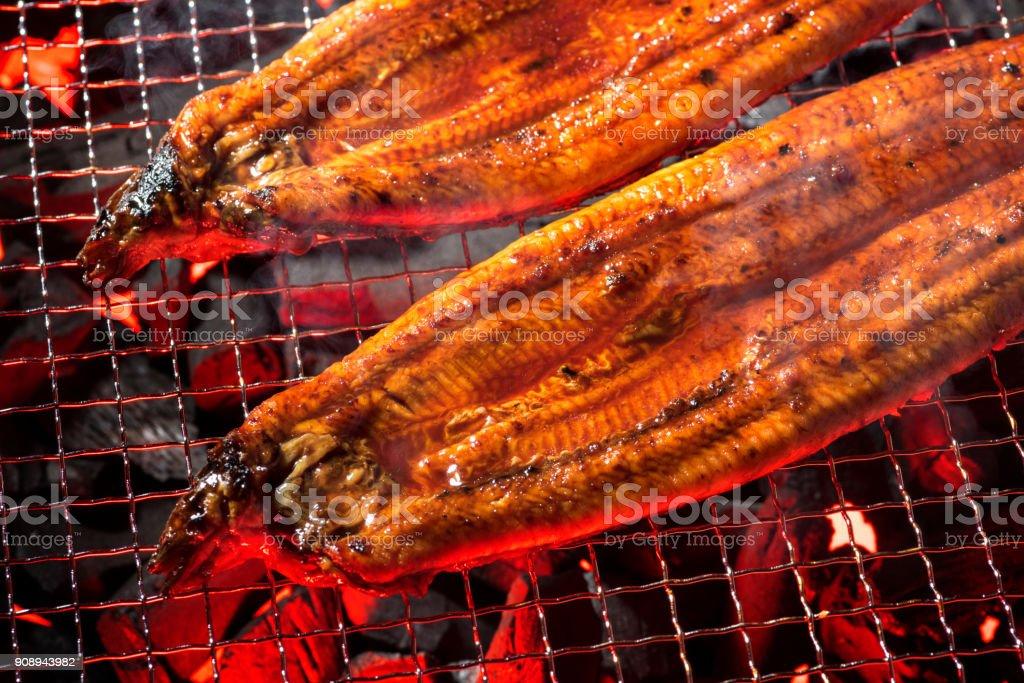 Kochen der gegrillte Aal – Foto