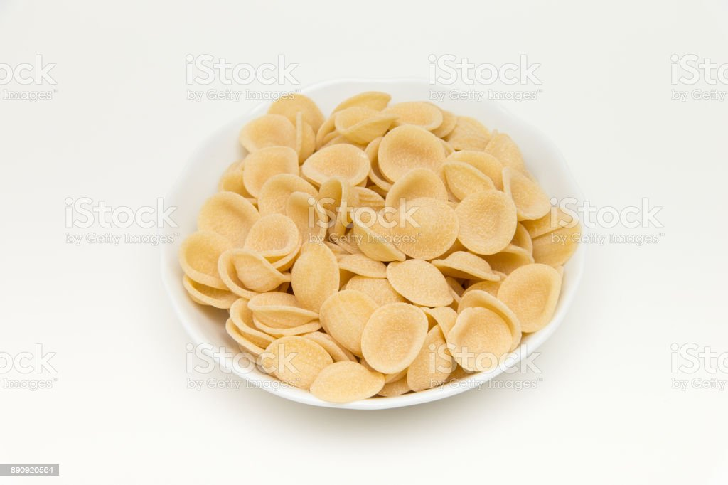 Cook the pasta in the bowl stock photo