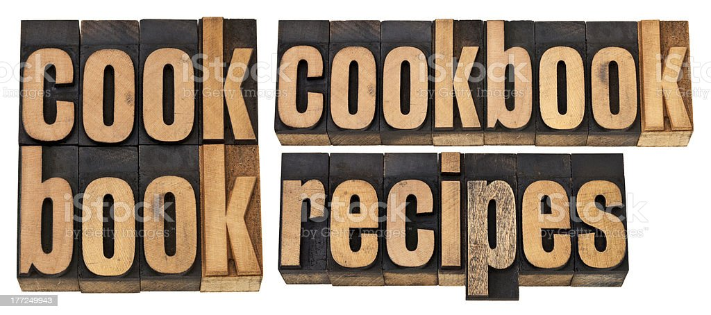 cookbook and recipes royalty-free stock photo