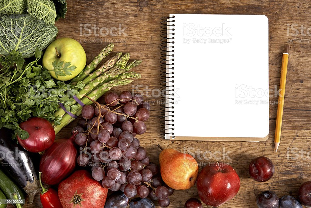 Cookbook. Copy space stock photo