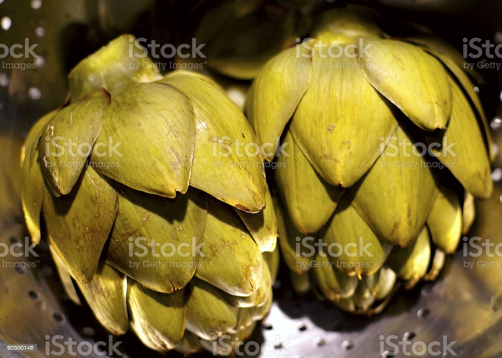 Cooked Artichokes royalty-free stock photo