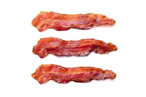 Cooked bacon rashers