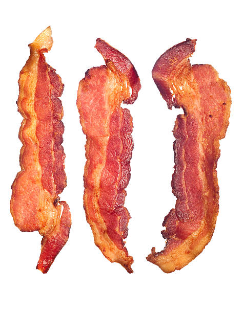 Cooked bacon strips