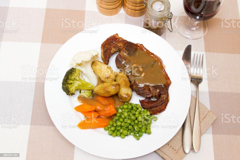 Cooked Barnsley chop stock photo