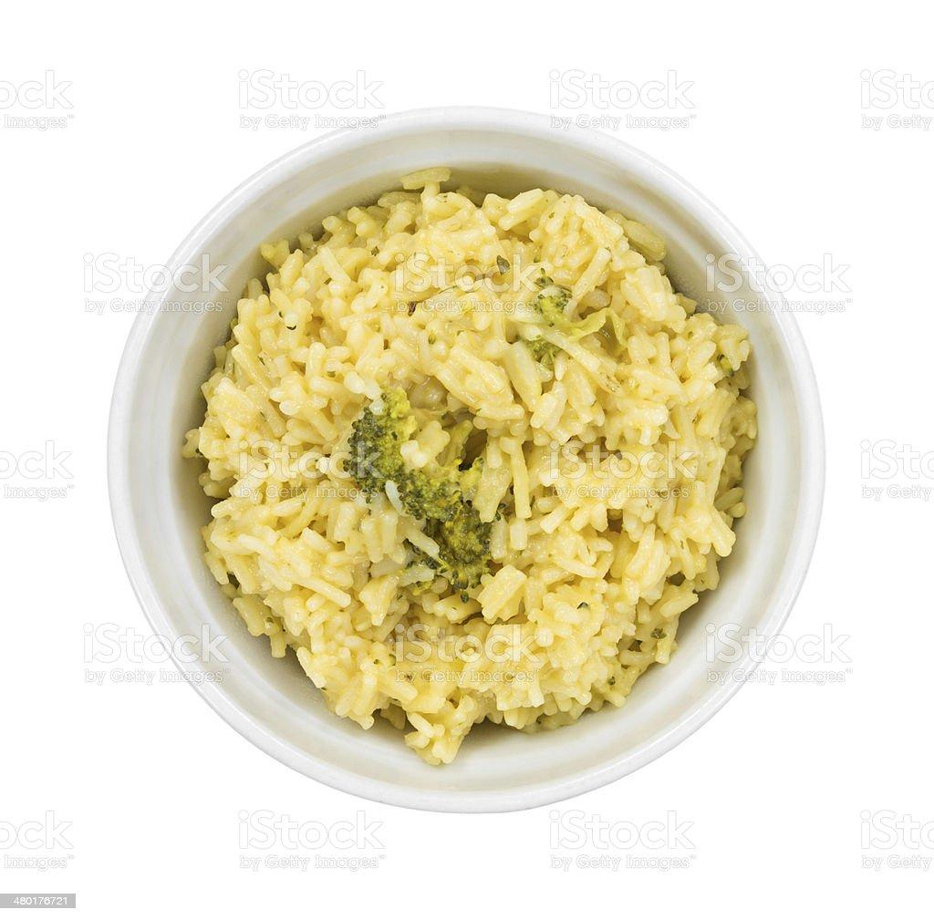 Brécol preparados en tazón de arroz - foto de stock