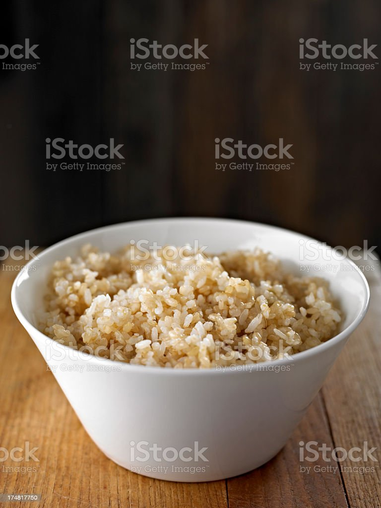 Cooked Brown Rice royalty-free stock photo