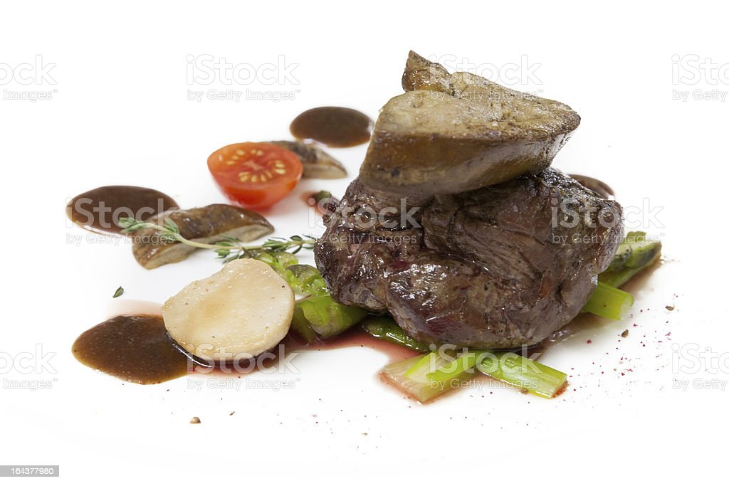 cooked foie gras royalty-free stock photo