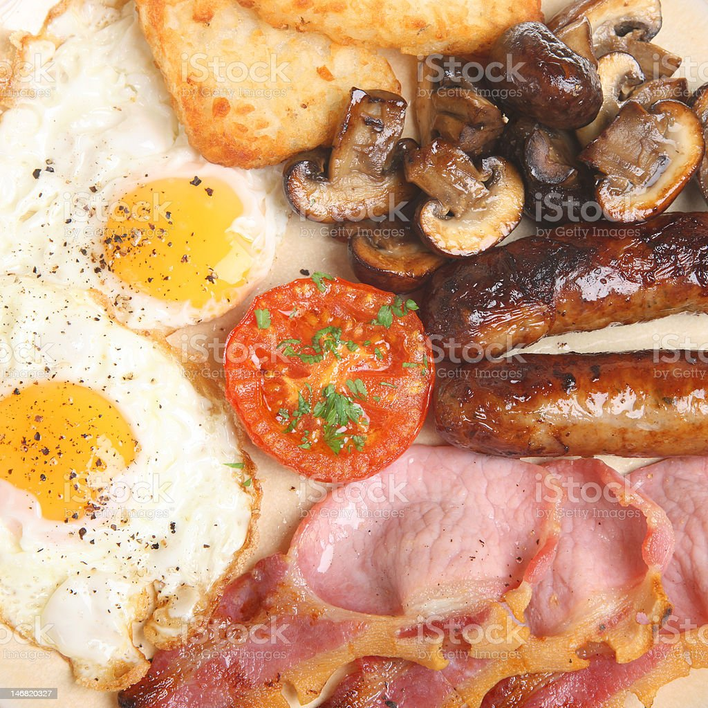 Cooked Fried Breakfast stock photo