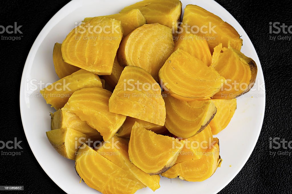 Cooked Golden Beets stock photo