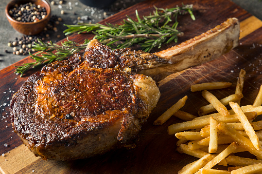 istock Cooked Grass Fed Tomahawk Steaks 894614604