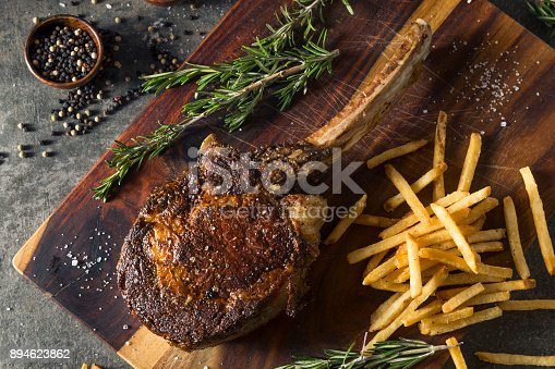 istock Cooked Grass Fed Tomahawk Steaks 894623862