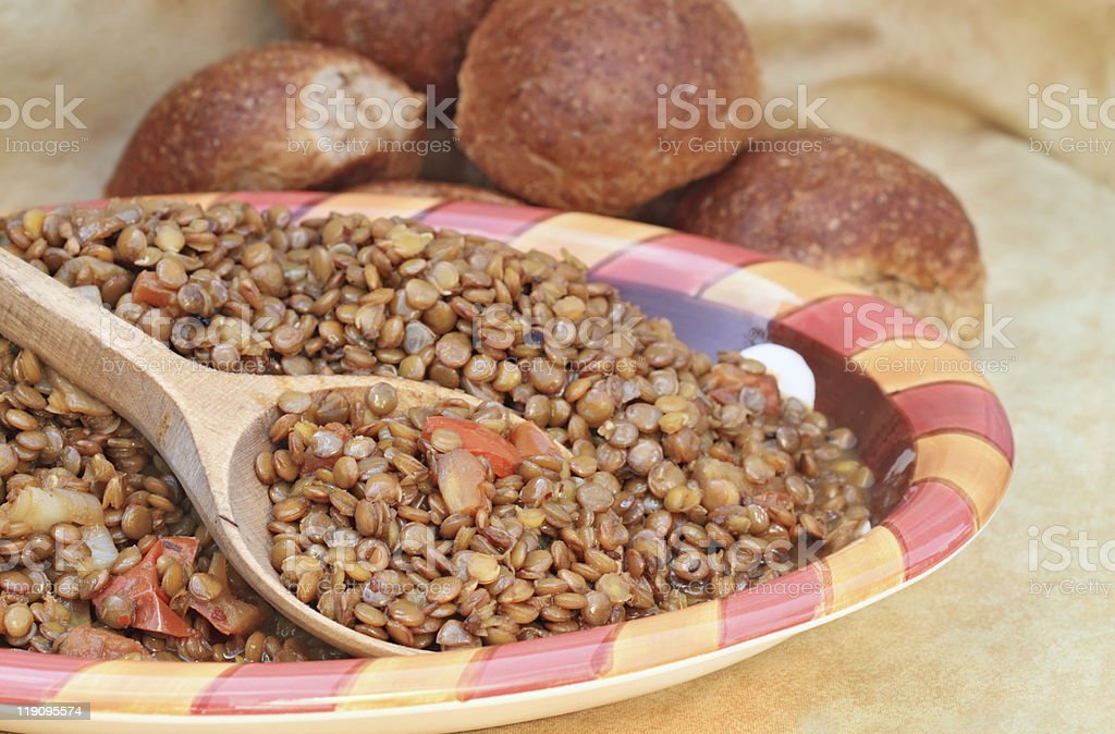 Cooked Lentils royalty-free stock photo