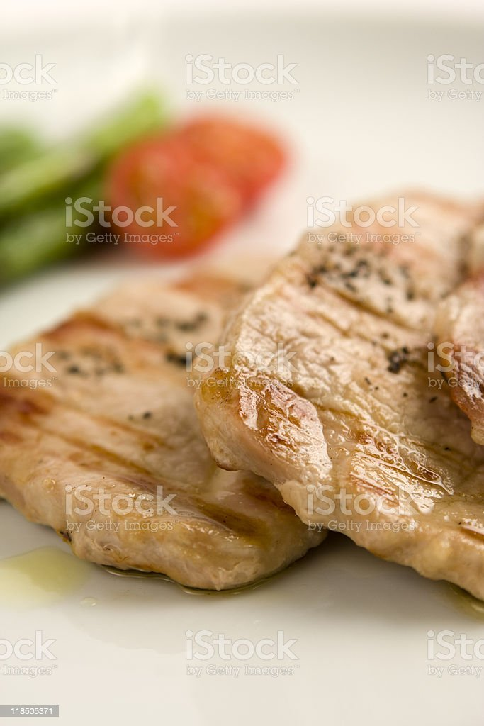 Cooked meat close up royalty-free stock photo