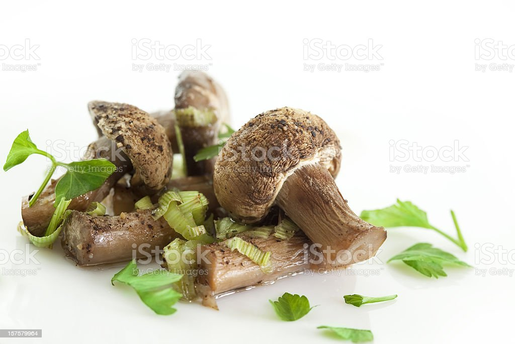 Cooked mushrooms royalty-free stock photo