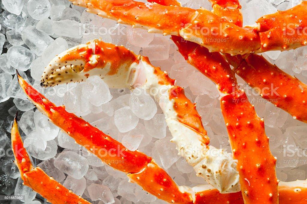 Cooked Organic Alaskan King Crab Legs stock photo