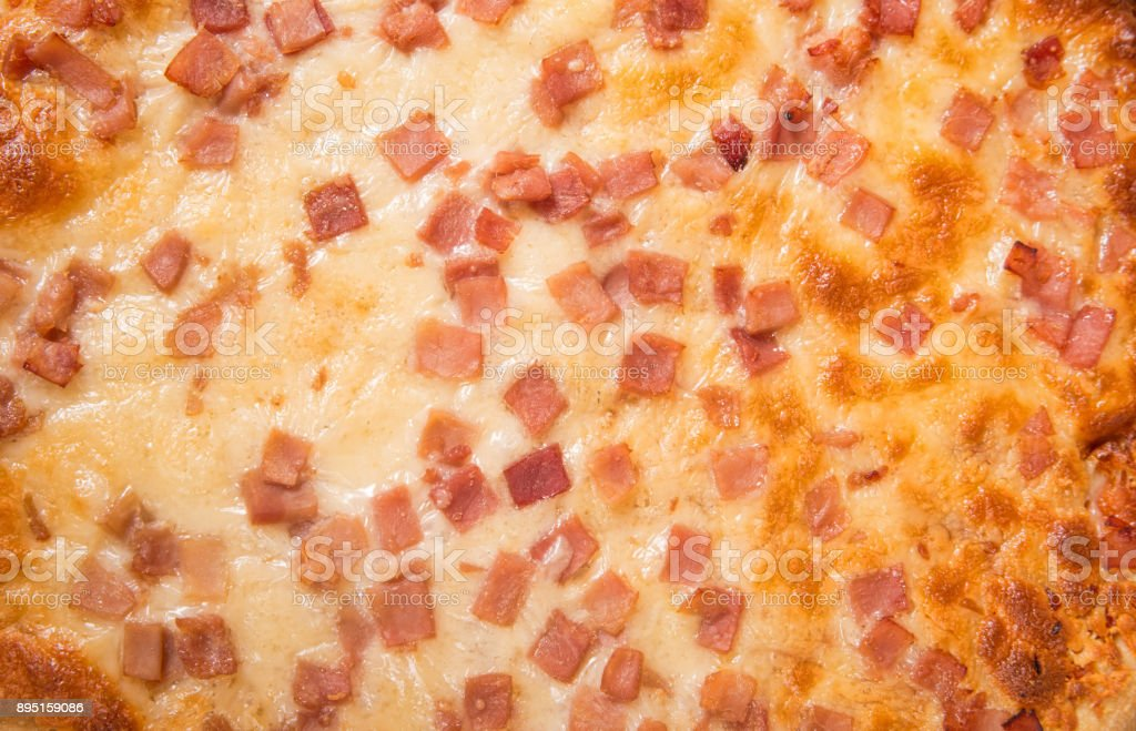 Cooked pizza stock photo