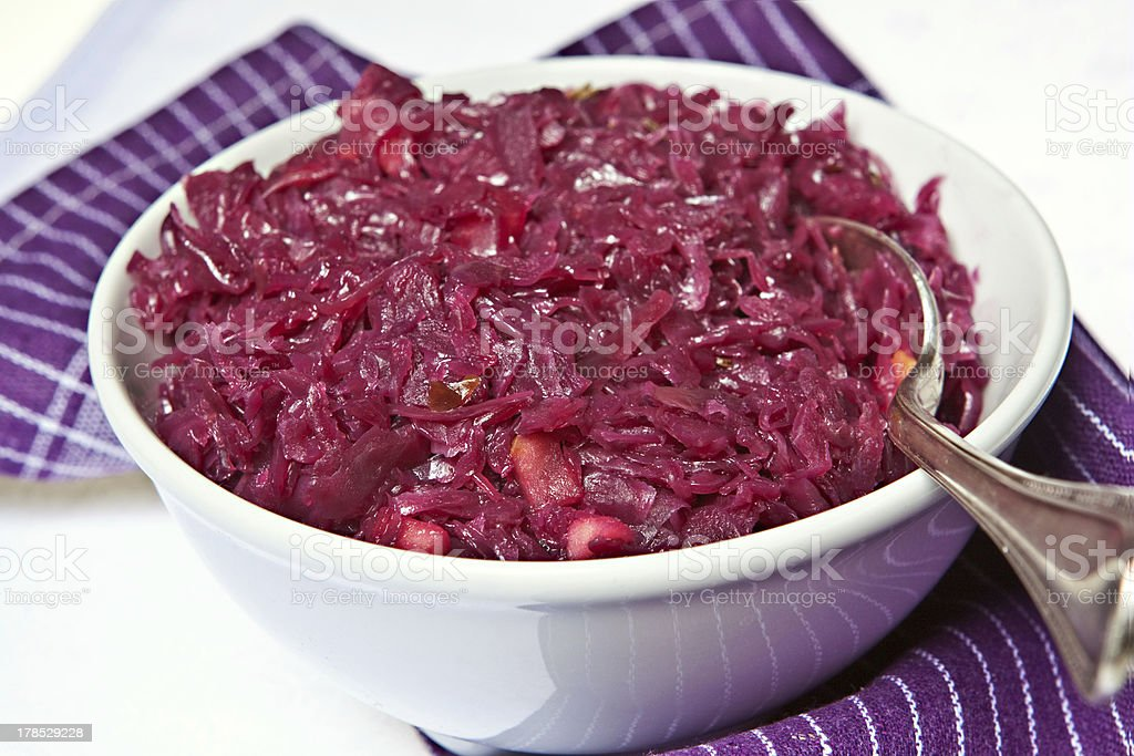 Cooked red cabbage royalty-free stock photo