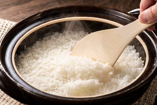Cooked Rice In A Clay Pot Stock Photo - Download Image Now